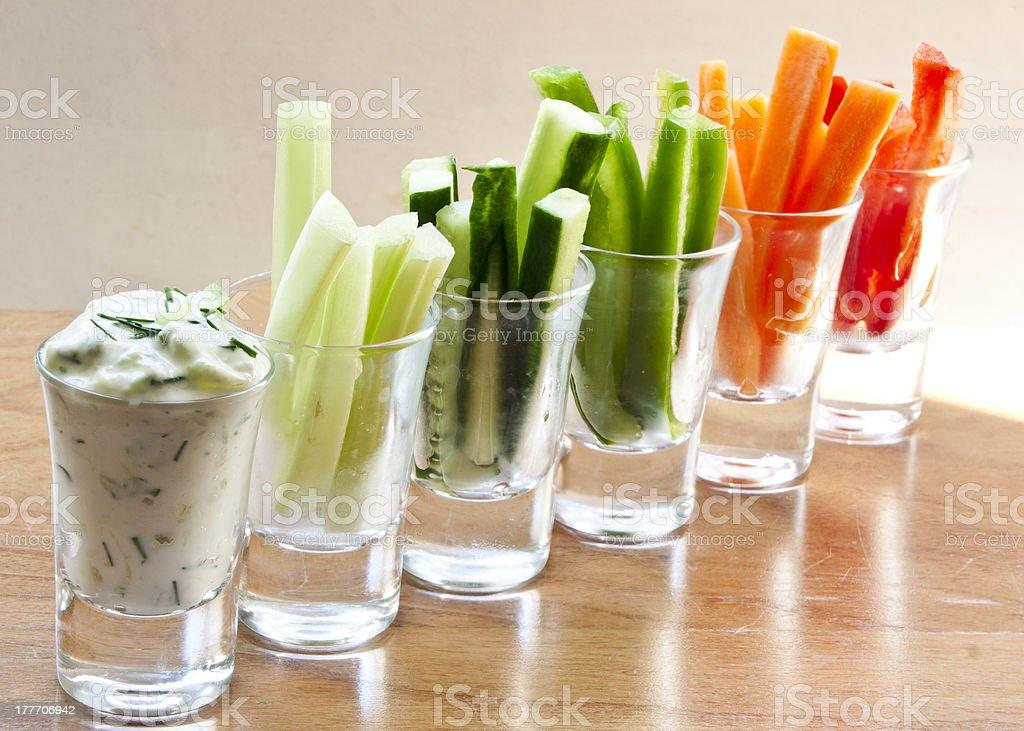 Gurke runden ein Gemüse-sticks – Foto