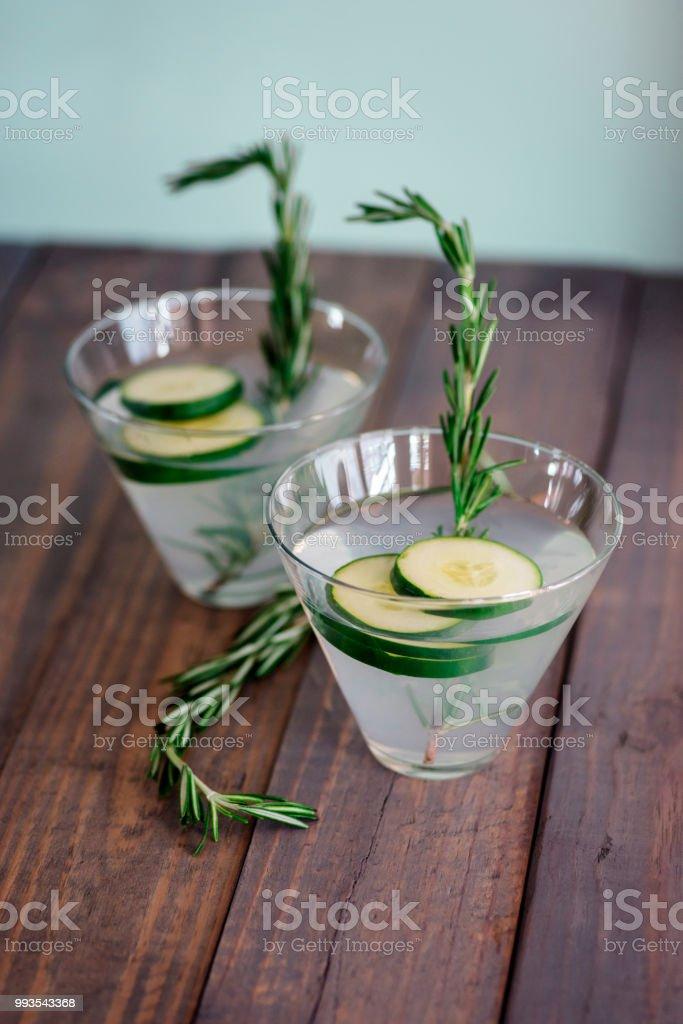 Cucumber martinis stock photo