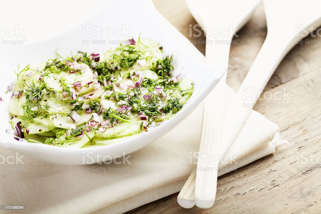 cucumber salad side dish royalty-free stock photo