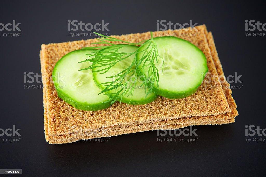 Cucumber sandwich royalty-free stock photo