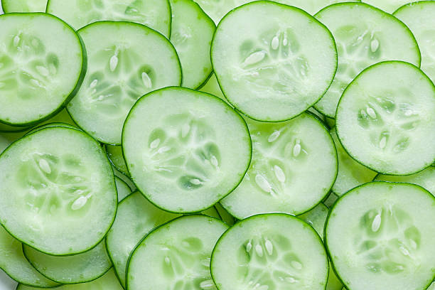 cucumber slice cucumber slice chopped food stock pictures, royalty-free photos & images