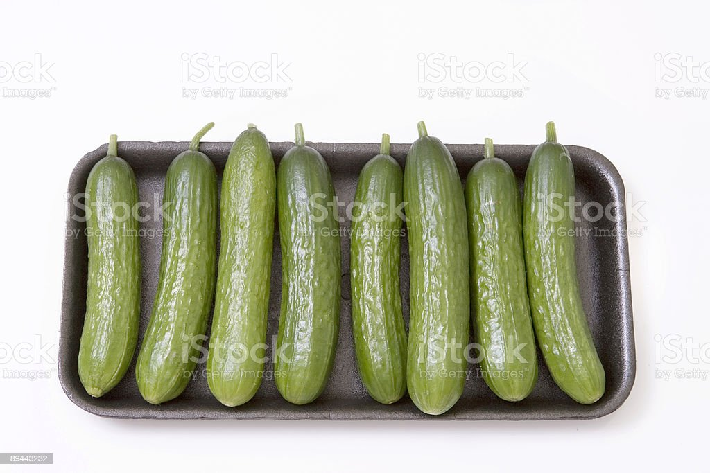 cucumbers on tray royalty-free stock photo
