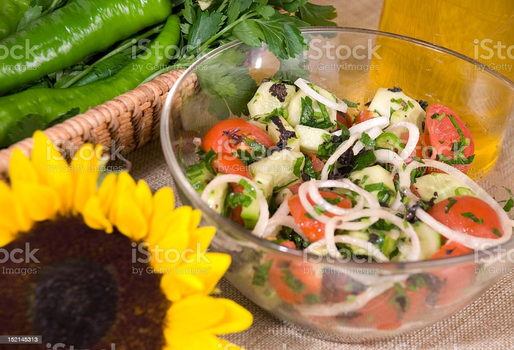 Cucumber-Tomato Salad royalty-free stock photo