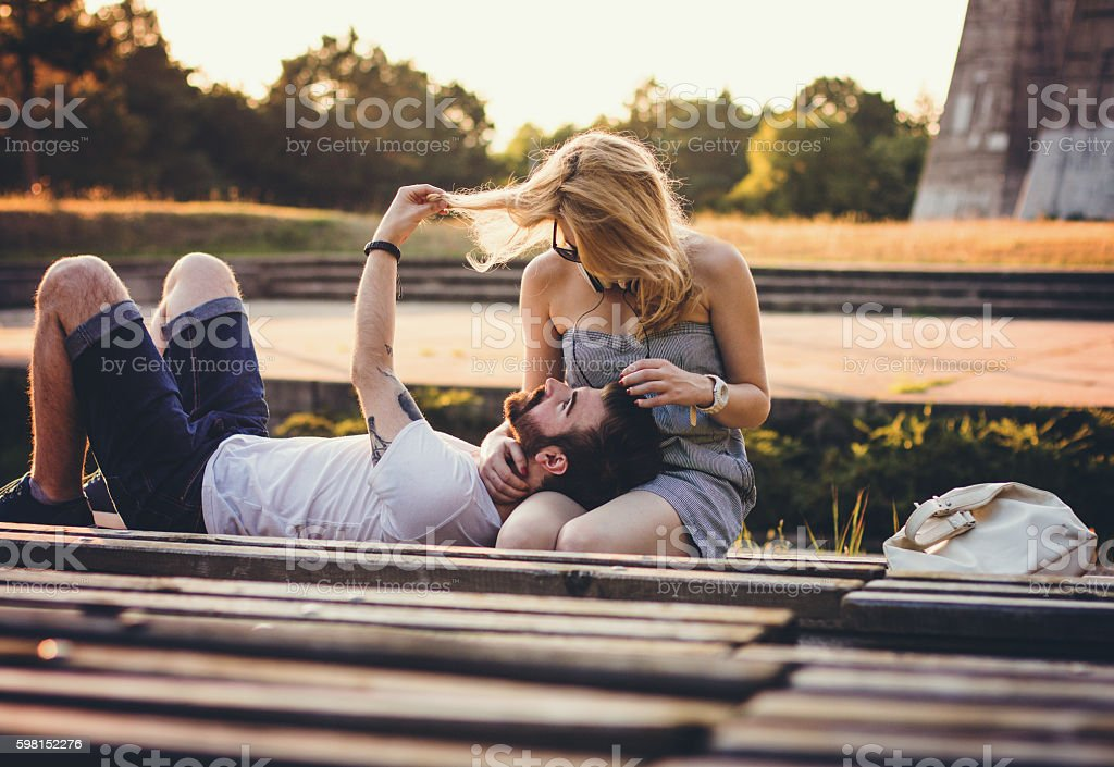 Cuddle and love stock photo