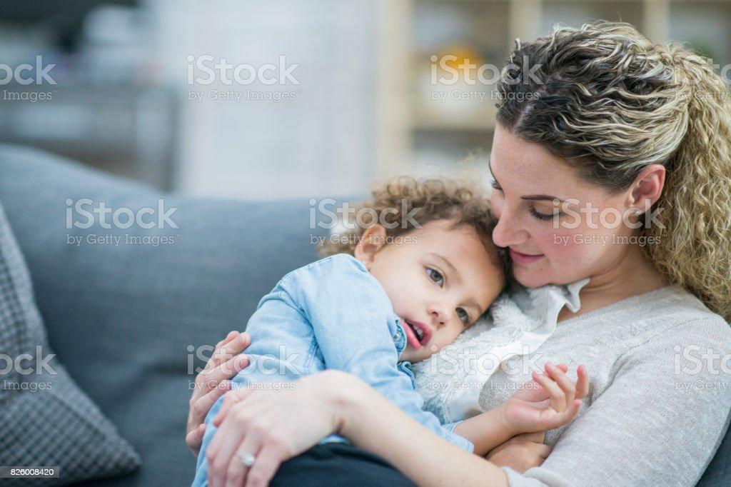 Cuddles stock photo