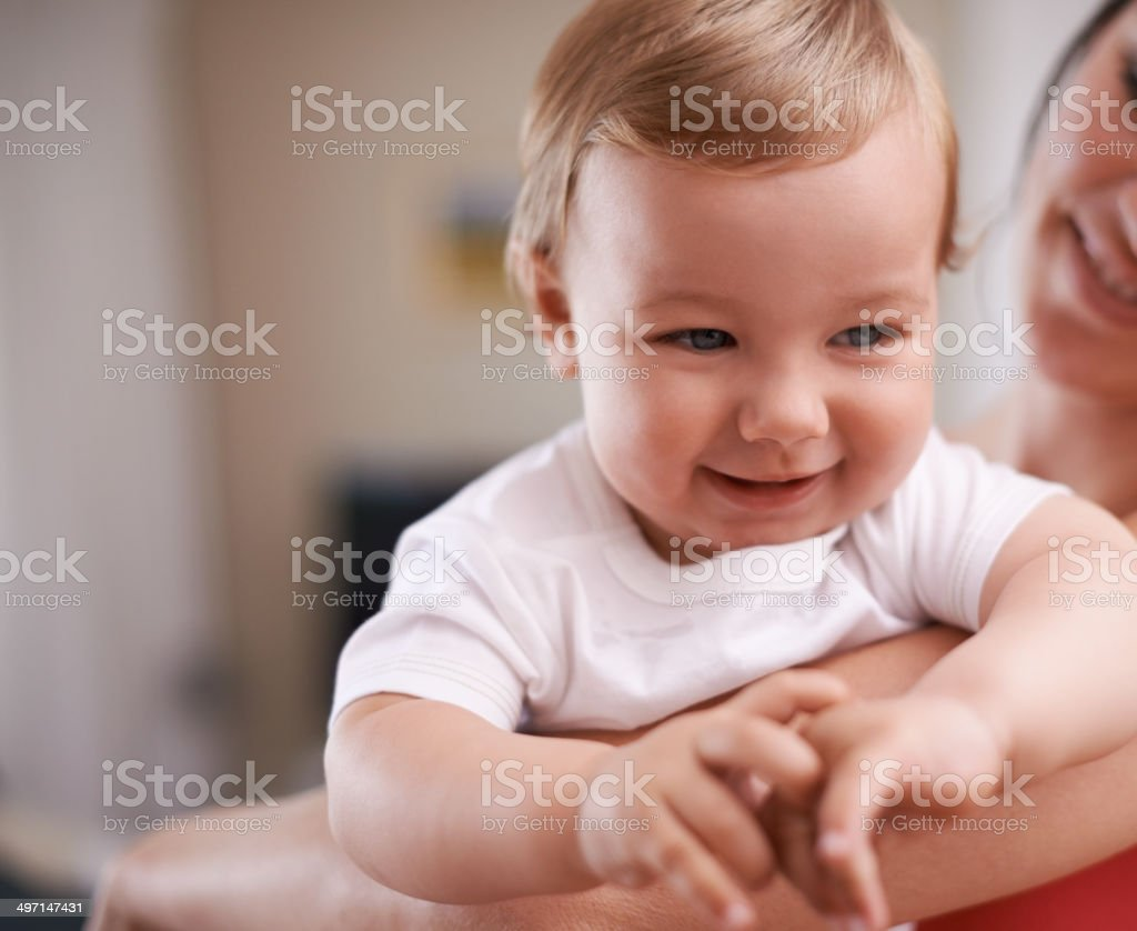 Cuddling a cutie stock photo