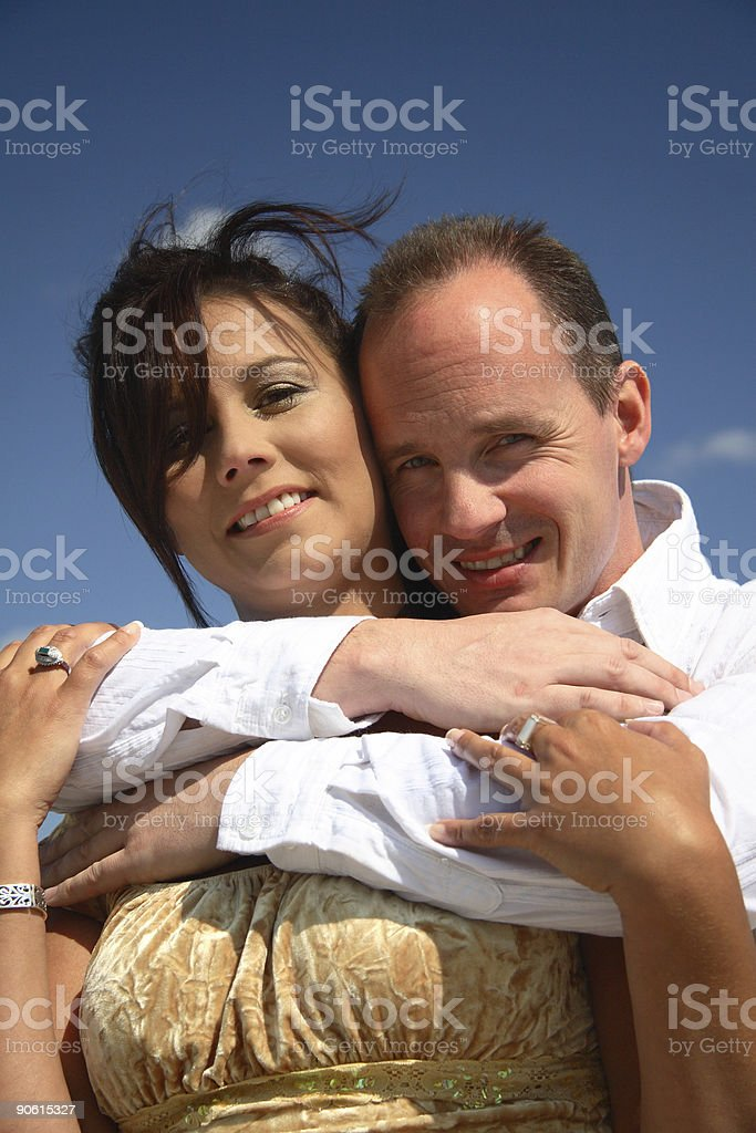 Cuddly Couple royalty-free stock photo