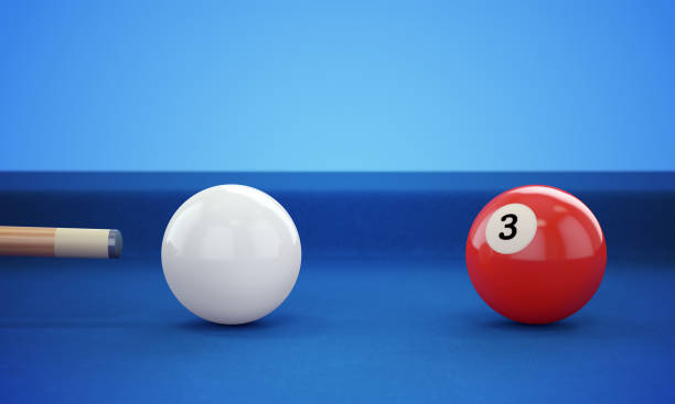 cue hitting pool ball - cue ball stock pictures, royalty-free photos & images