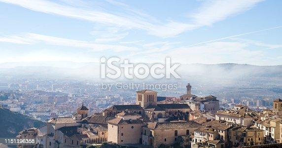 Cuenca medieval city old town views, Castilla La Mancha, Spain