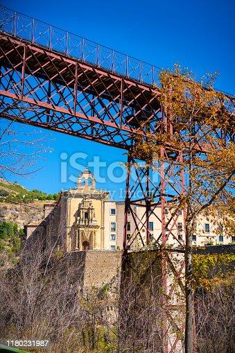 Cuenca San Pablo bridge and old convent of Saint Paul in Spain Castila La Mancha
