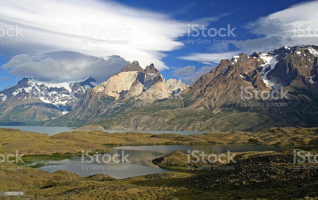 Cuernos del Pain and Almirante Nieto in Patagonia royalty-free stock photo