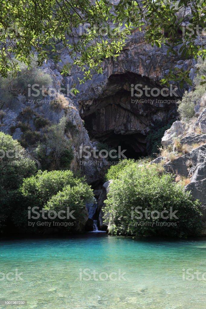 Cueva del Gato stock photo