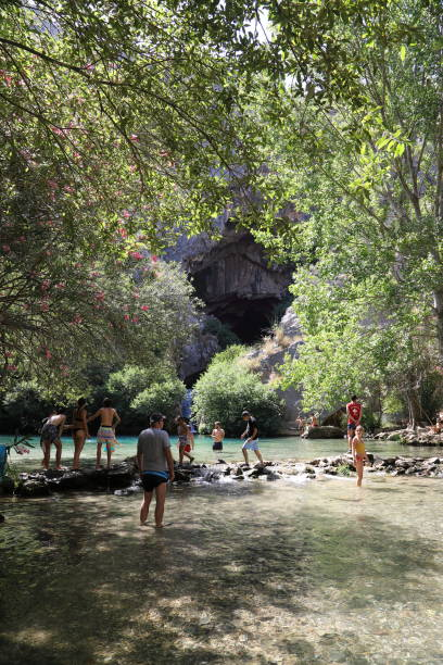 cueva del gato - recreational lake - pejft stock photos and pictures