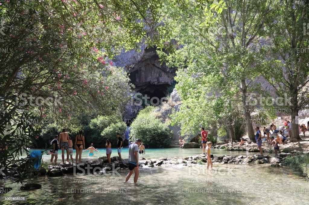 Cueva del Gato - recreational lake stock photo