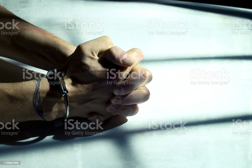 cuffed stock photo