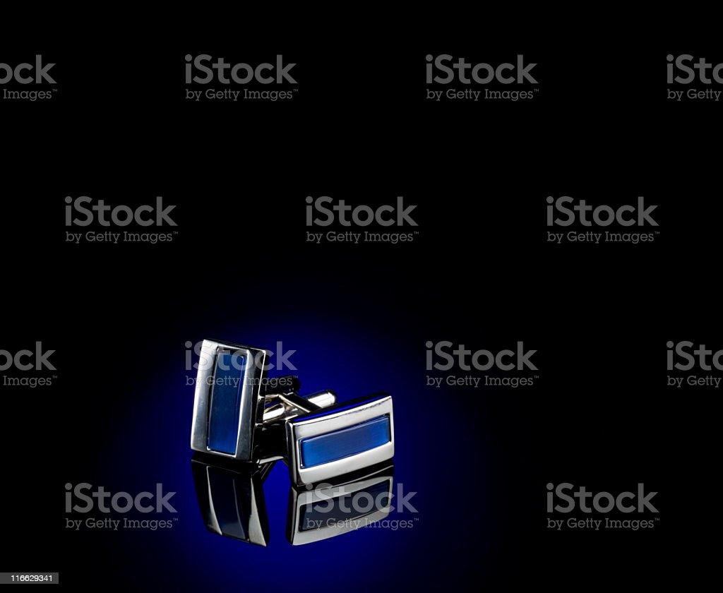 Cufflinks on Black stock photo
