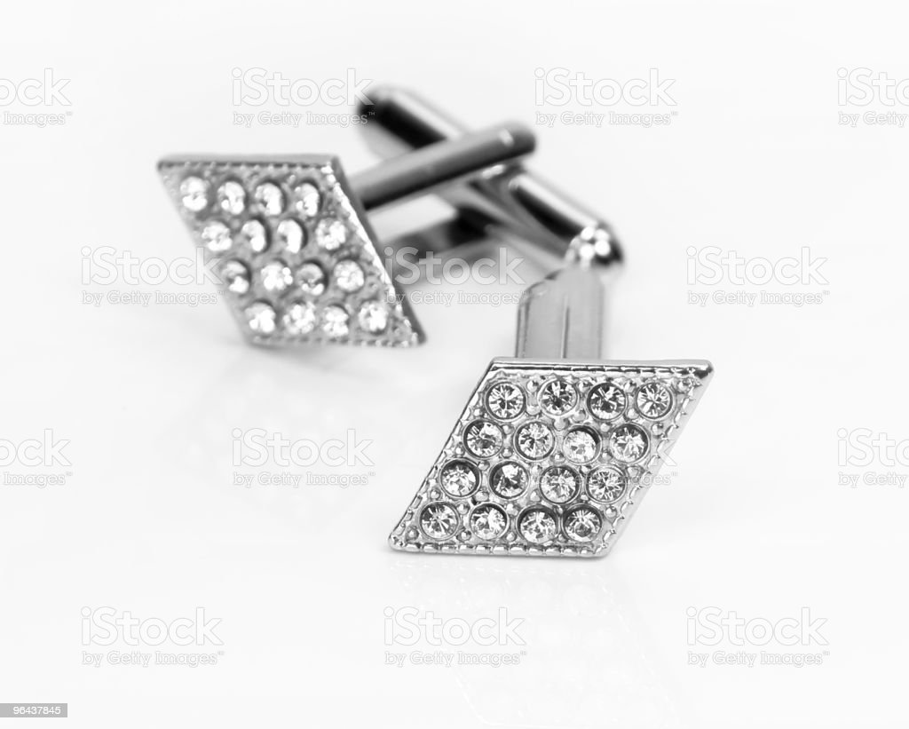 cufflinks opened and closed stock photo