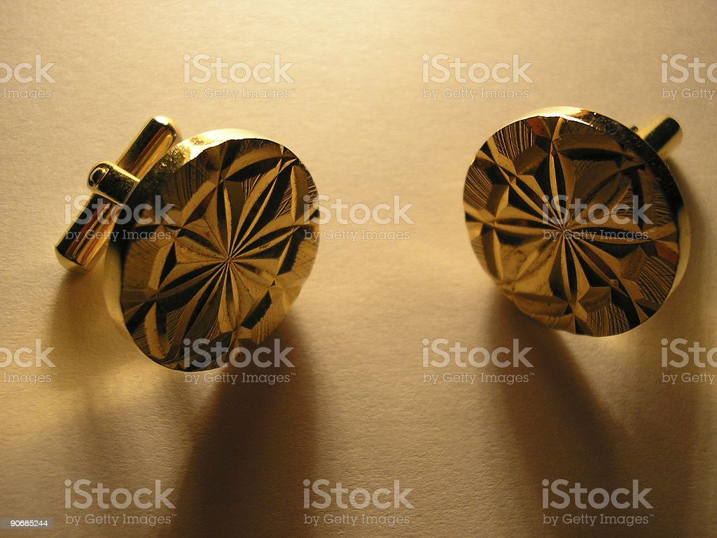 Cufflinks royalty-free stock photo