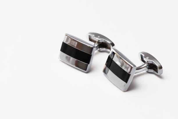 Manschettenknöpfe in Silber – Foto