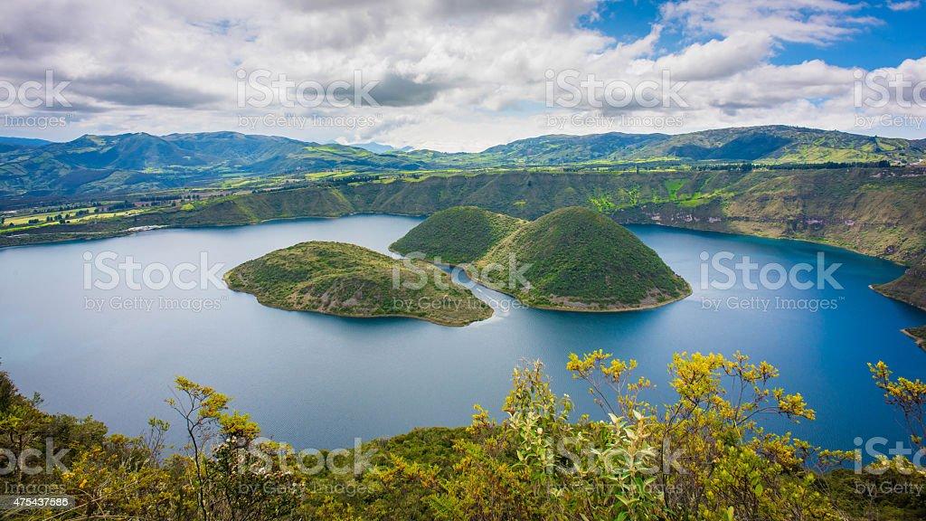 Cuicocha lake in Ecuador stock photo