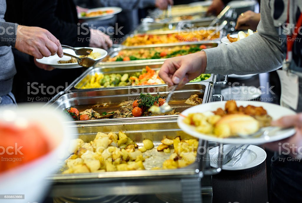 Cuisine Culinary Buffet Dinner Catering Dining Food Celebration stock photo
