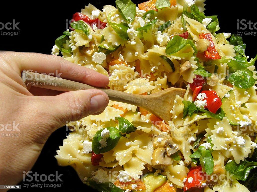 Cuisine. Farfalle (pasta) royalty-free stock photo