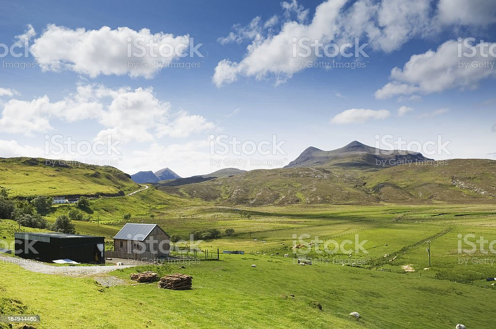 Cul Mor from Elphin, Scottish Highlands stock photo