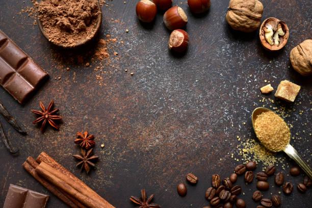 Kulinarischer Hintergrund mit Zutaten zum Backen – Foto