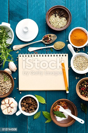 istock culinary background with spices on wooden table 515744506