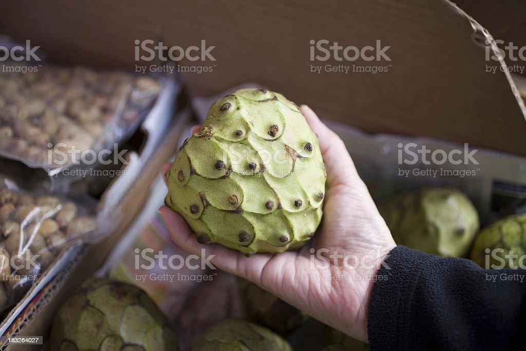 Culinary: Cherimoya stock photo