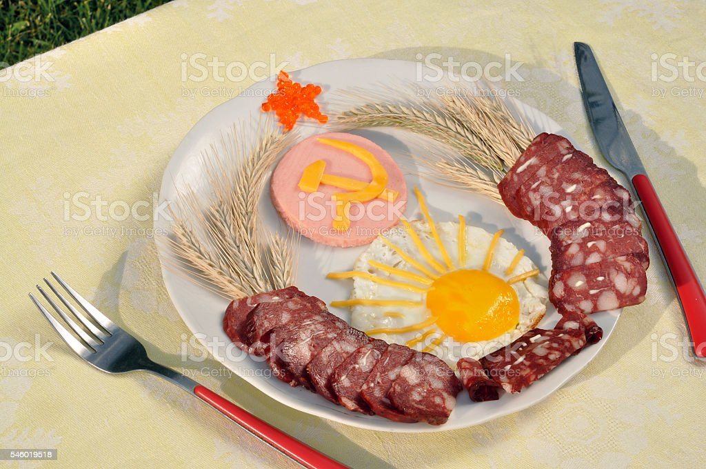 culinary emblem of the USSR stock photo