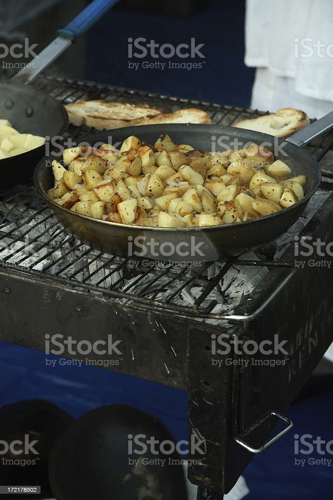 Culinary: Fried Potatoes royalty-free stock photo