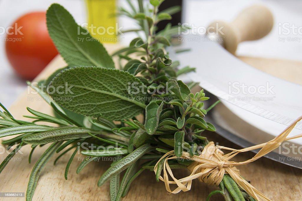 Culinary herbs royalty-free stock photo