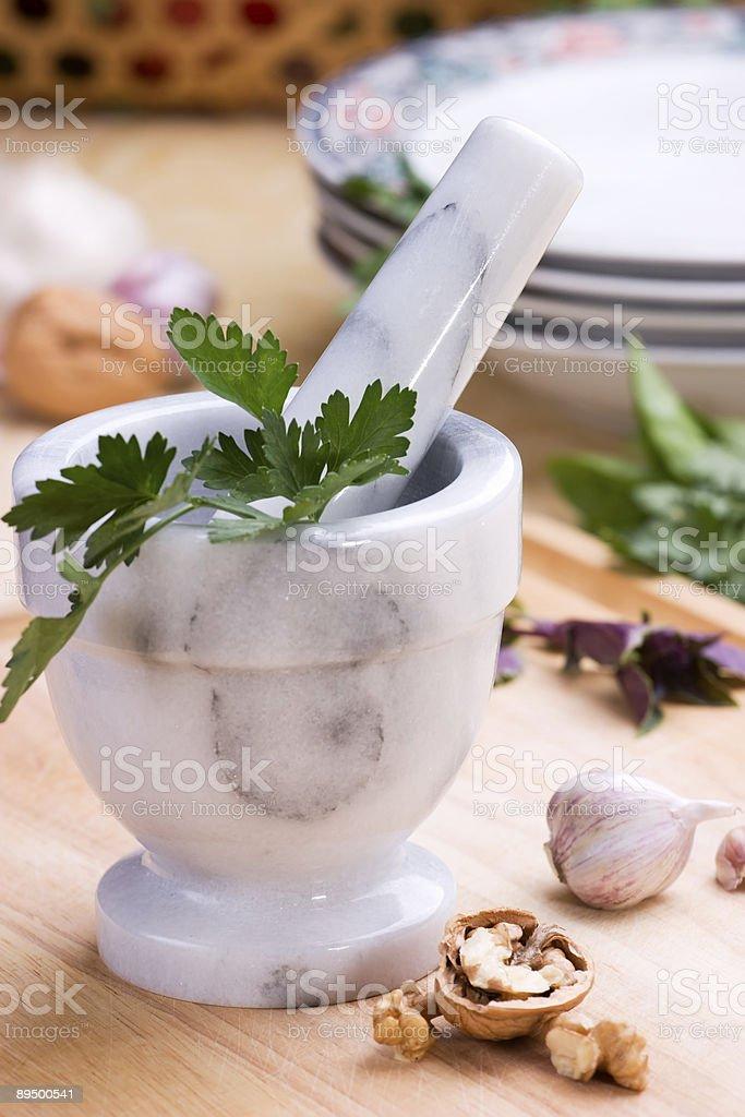 Erbe aromatiche cucina foto stock royalty-free