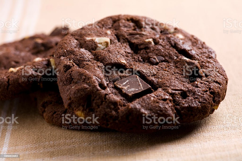 Triple chocolate chip cookies – Foto