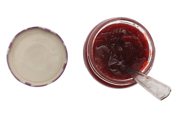 A culinary image of red jam or jelly stock photo