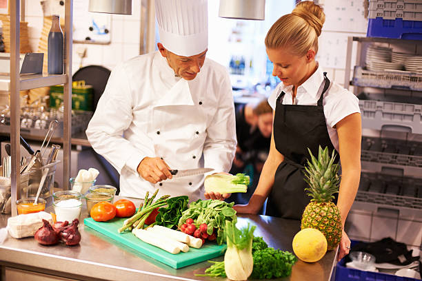 Culinary lessons stock photo
