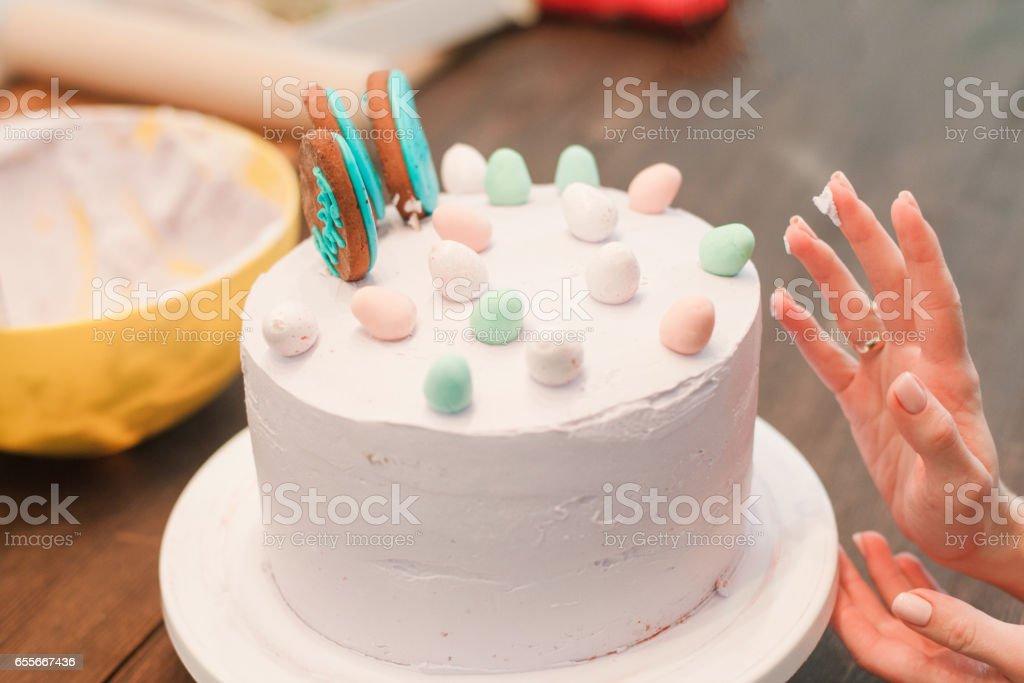 Culinary Masterclass Of Homemade Cake Decoration Stock Fotografie
