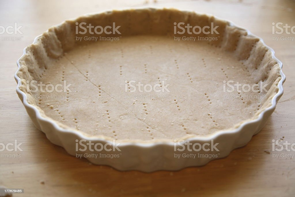 Culinary: Pie Crust royalty-free stock photo