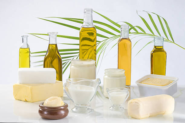 culinary variety of fats stock photo