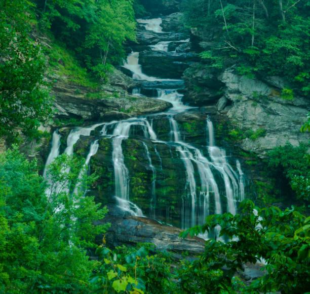 Cullasaja Falls stock photo