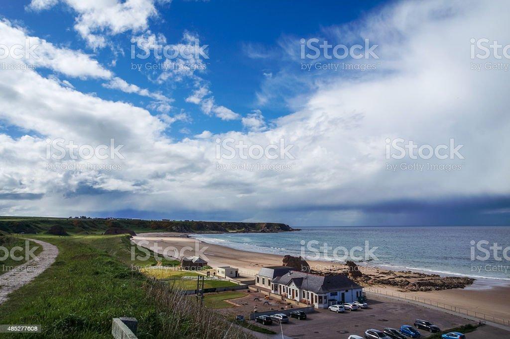 Cullen Bay, Aberdeenshire, Scotland stock photo