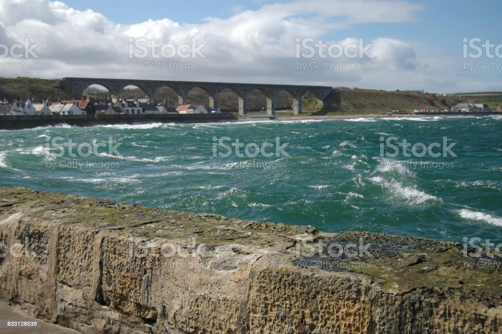 Cullen Bay and Viaduct stock photo