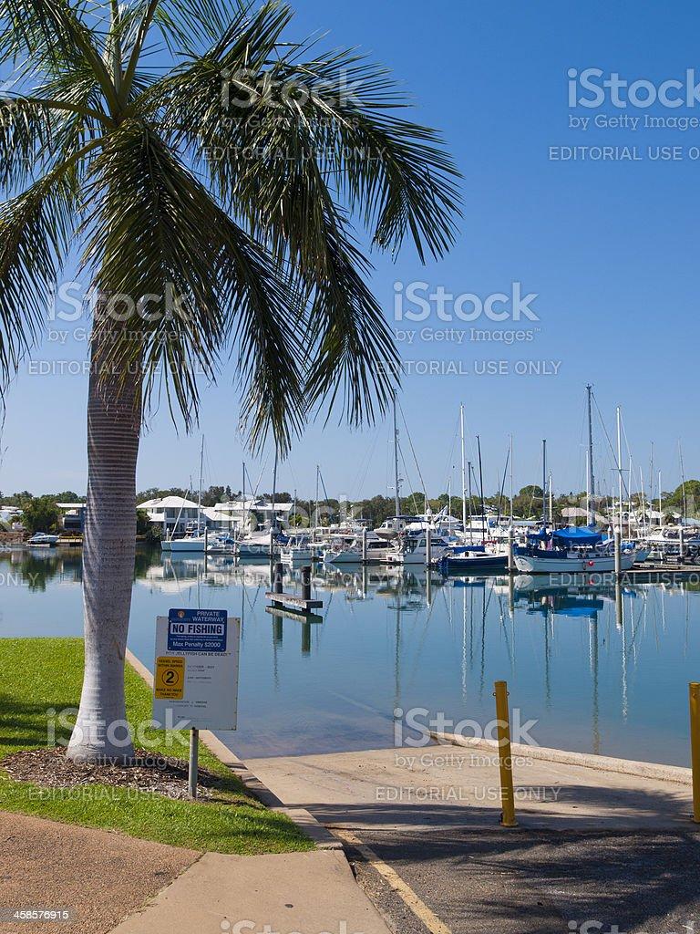 Cullen Bay Marina, Darwin, Australia stock photo