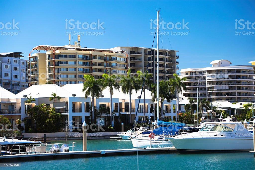 Cullen Bay Marina stock photo
