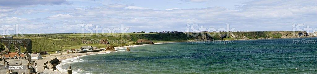 Cullen Bay, Scotland stock photo