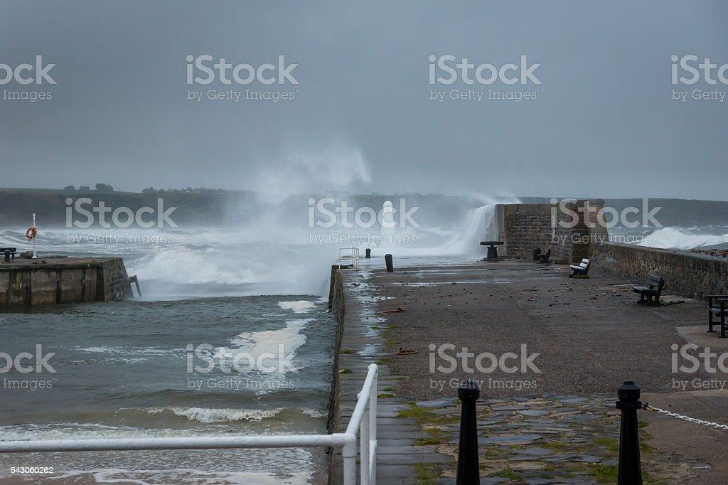 Cullen Harbour Entrance stock photo