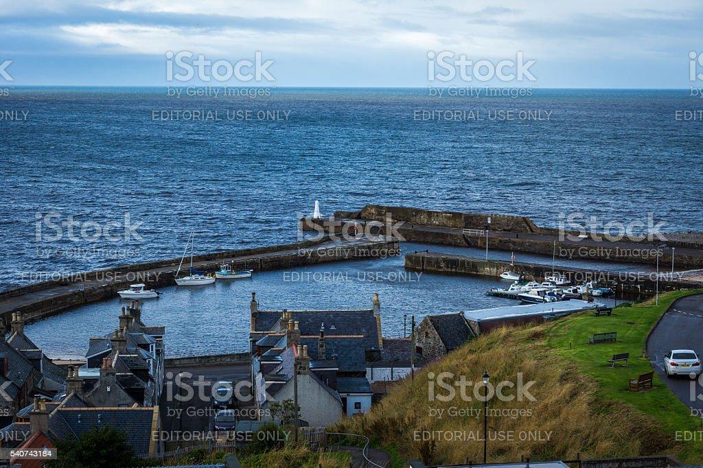 Cullen Harbour stock photo