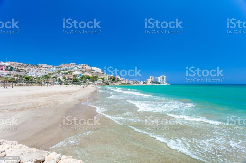 Cullera Strand und Dorf, Costa Blanca-Spanien – Foto