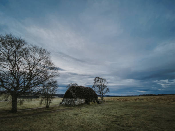 Culloden Battlefield Culloden Battlefield on a winter's morning culloden stock pictures, royalty-free photos & images
